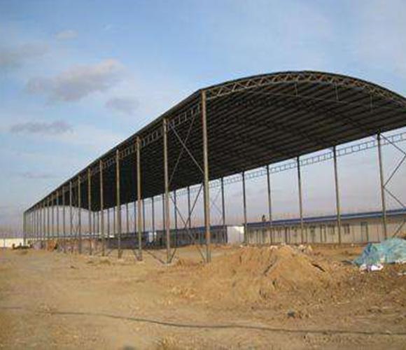 钢结构料棚厂家-钢结构料棚